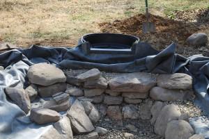Backyard Fountain Construction