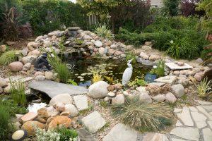 Building decorative yard pond