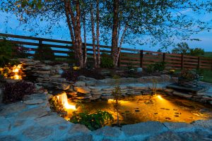 Constucting and building garden pond
