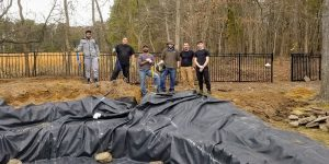 Atlantic Ponds Staff During Pond Construction Phase