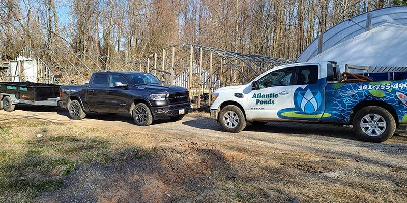 Atlantic Ponds Trucks Onsite