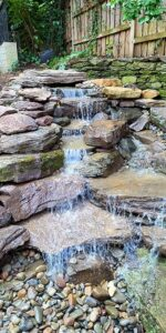 Closeup of Natural Pondless Stream and Waterfall