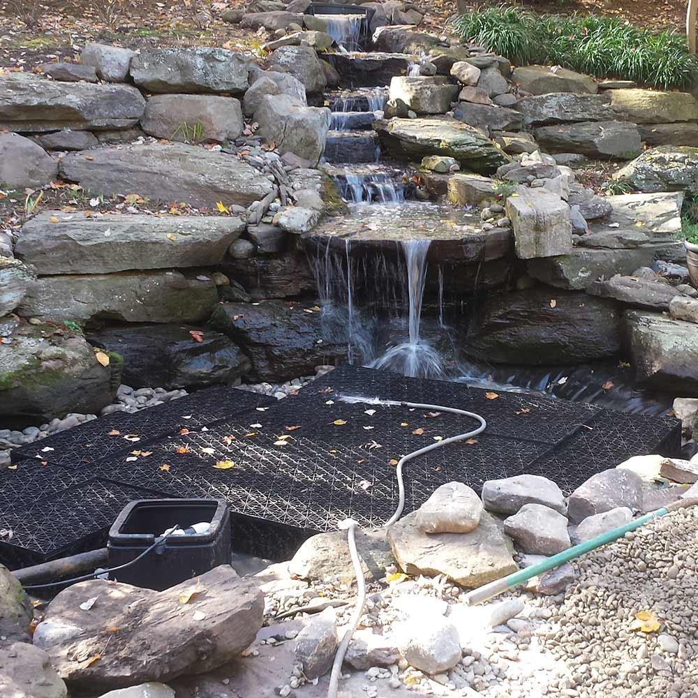 Construction of Pondless Rock Step Waterfall