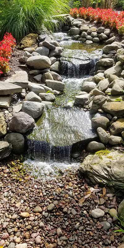 Pondless Natural Rock Step Stream Channel