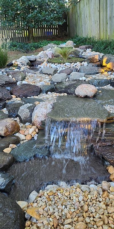 Natural Pondless Step Waterfall