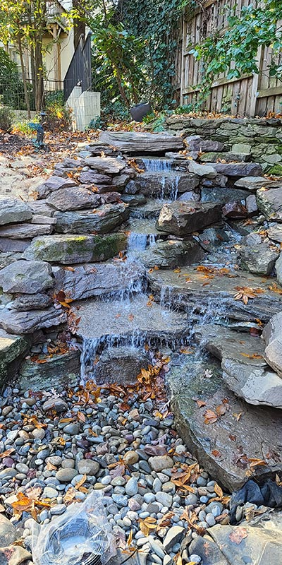 Natural Pondless Stream and Waterfall