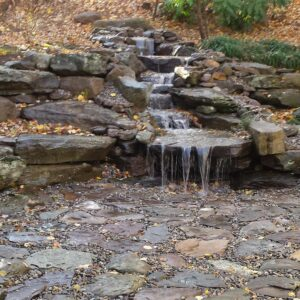 Pondless Stream Flowing into Boulder Pad