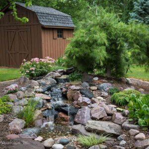 Small Natural Pondless Waterfall