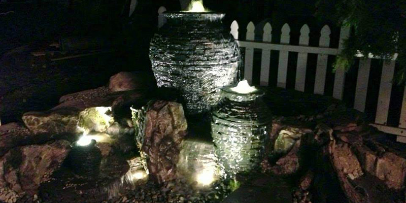 Stacked Fountain Urns
