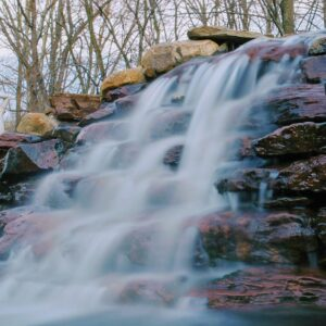 Tall-Rocky-Waterfall-and-Pond