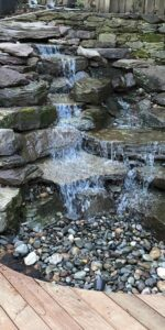 Wood Deck and Pondless Waterfall