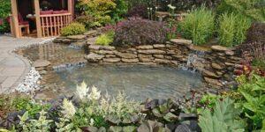 Wood-Gazebo-and-Pond-Garden